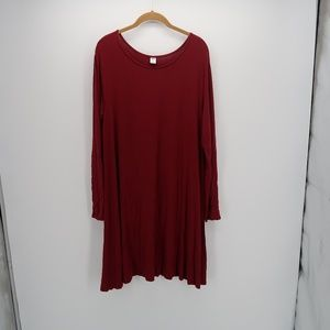 Old Navy Red Long Sleeve Shift Dress Size XL